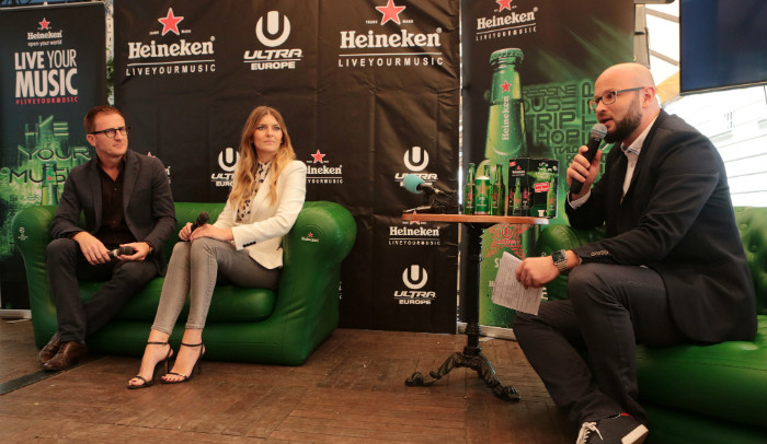 Roberto Giugliano - Heineken, Anita Palac - Ultra Europe, moderator Luka Jureško - Ultra Europe - uesmag